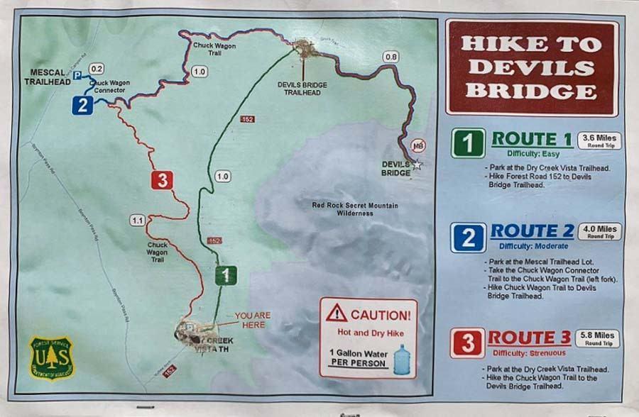 Devil's Bridge Trail Sedona map