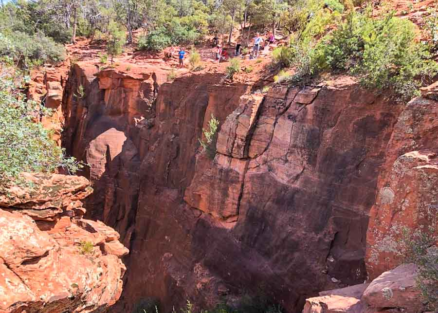 People admiring the view from the top of the Devil's Bridge Trail Sedona