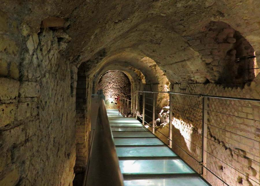 underground archaeological site of Rione Terra