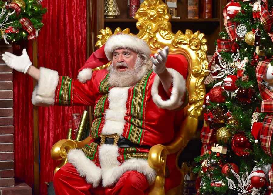 Santa Claus on Christmas Eve