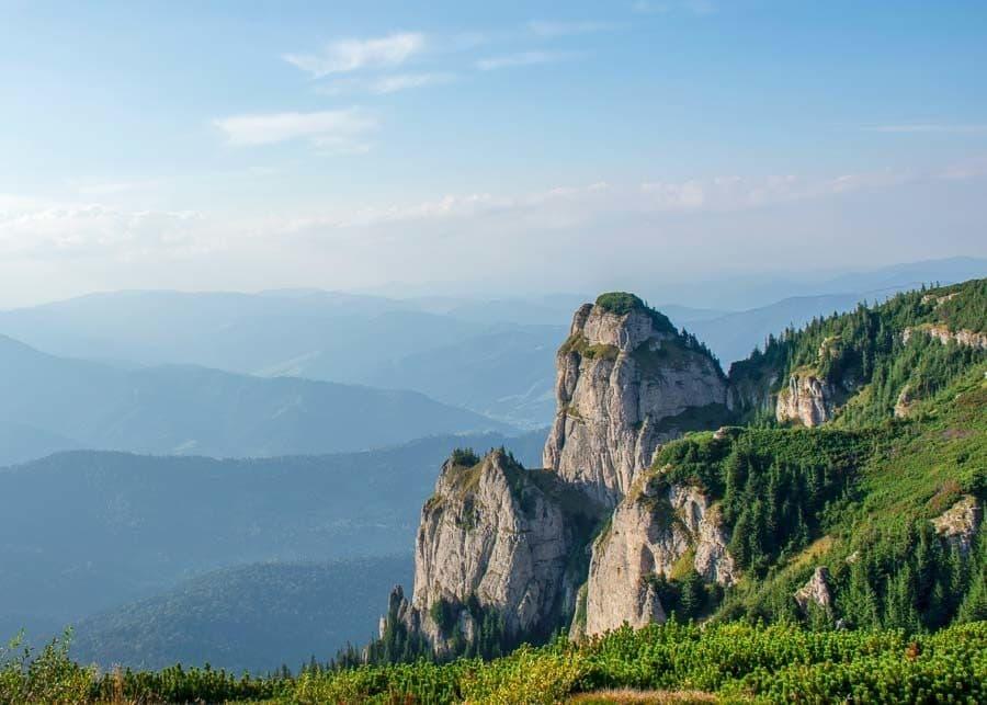 Ceahlau Massif in Romania