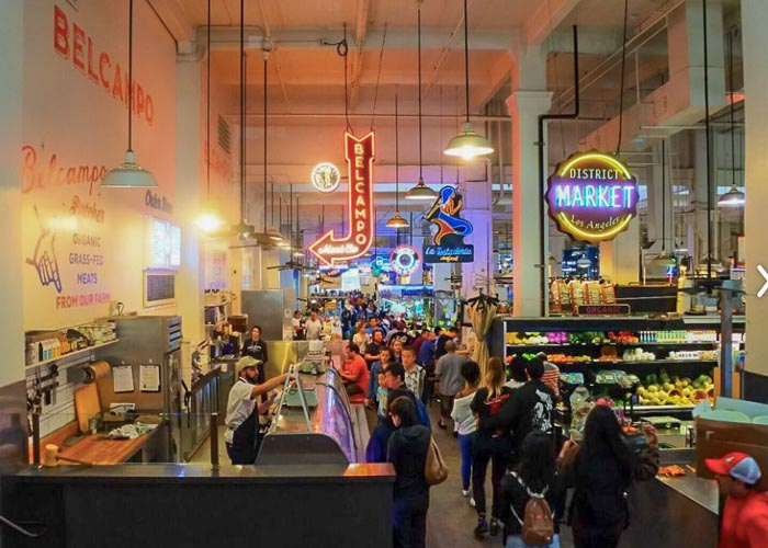Visiting Grand Central Market in Los Angeles on a self guided walking tour
