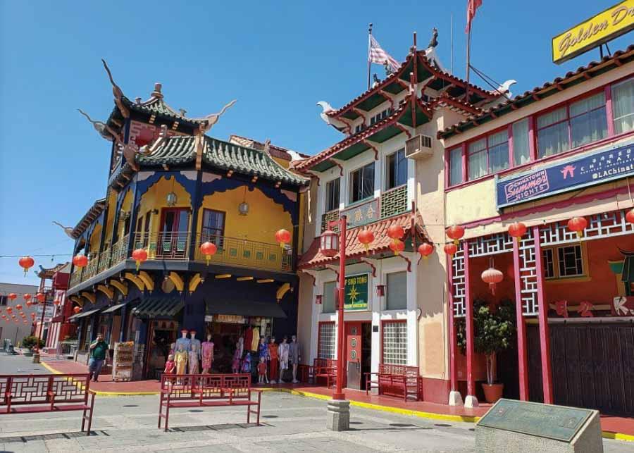 Chinatown neighborhood in Los Angeles