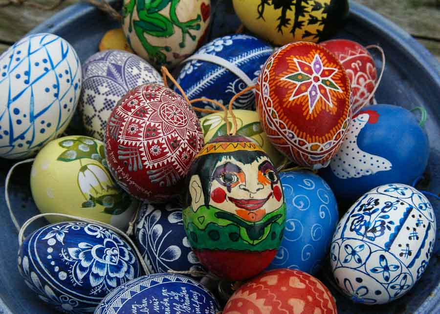 Romanian souvenirs: hand painted Easter eggs