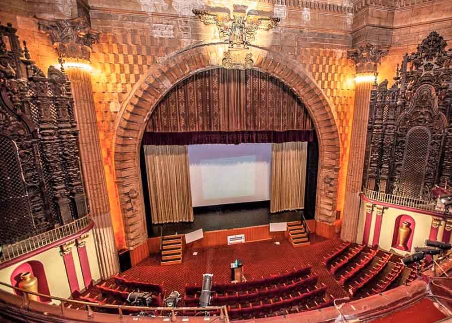 Interior of the Million Dollar Theater in Los Angeles Theater District