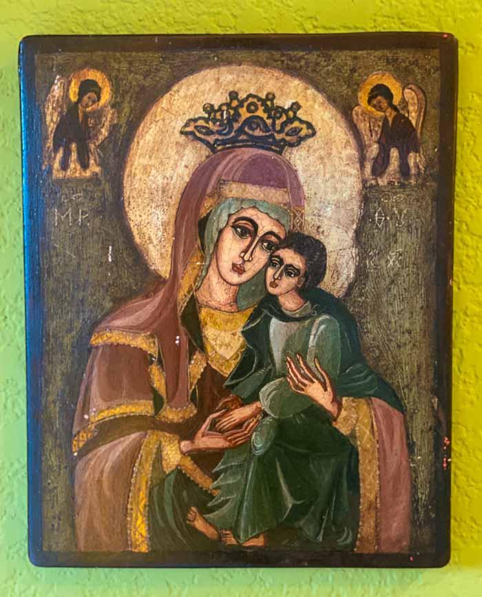 Romanian Orthodox icon painted on wood