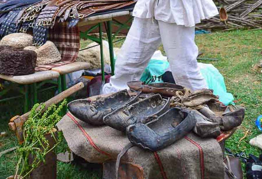 'Opinci' - traditional peasant shoes