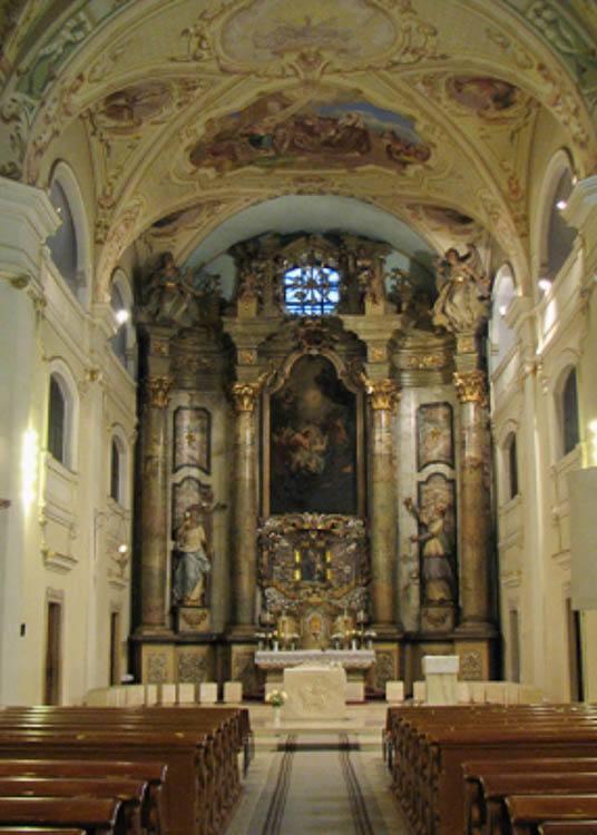 Altar of St. John's Baptist Church in Targu Mures
