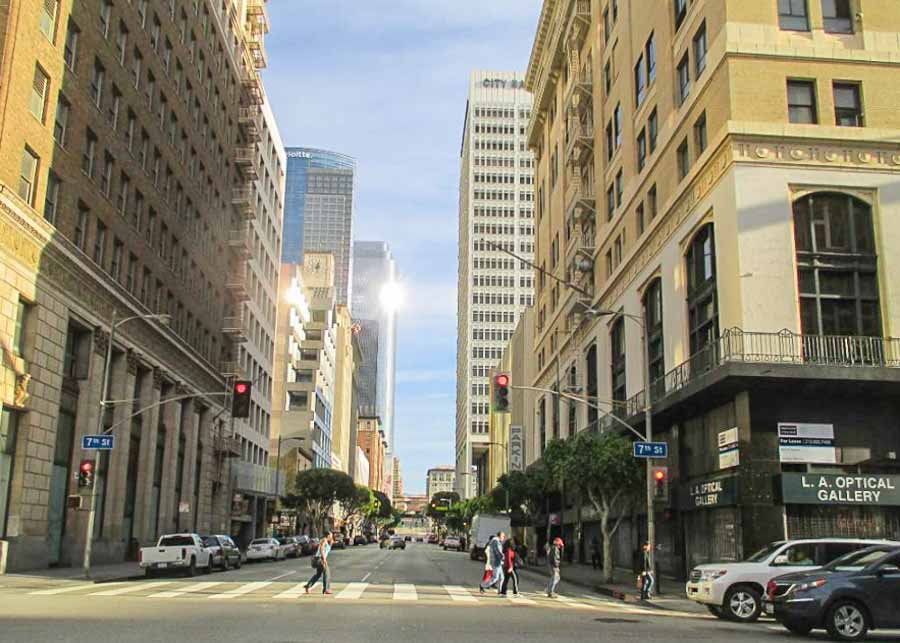 Taking a walking tour in Downtown Los Angeles
