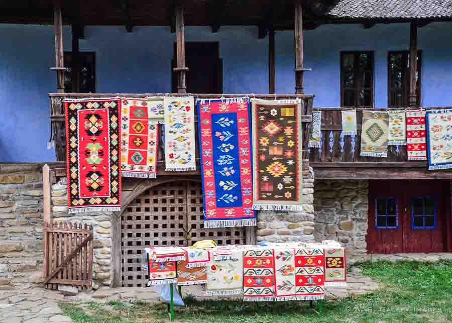 Romanian hand-woven rugs