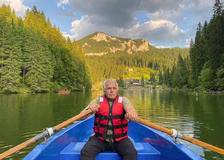 Rowing on Lacul Rosu
