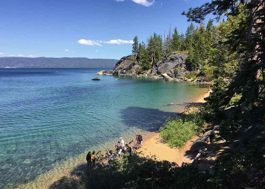 Bliss beach, in South Lake Tahoe