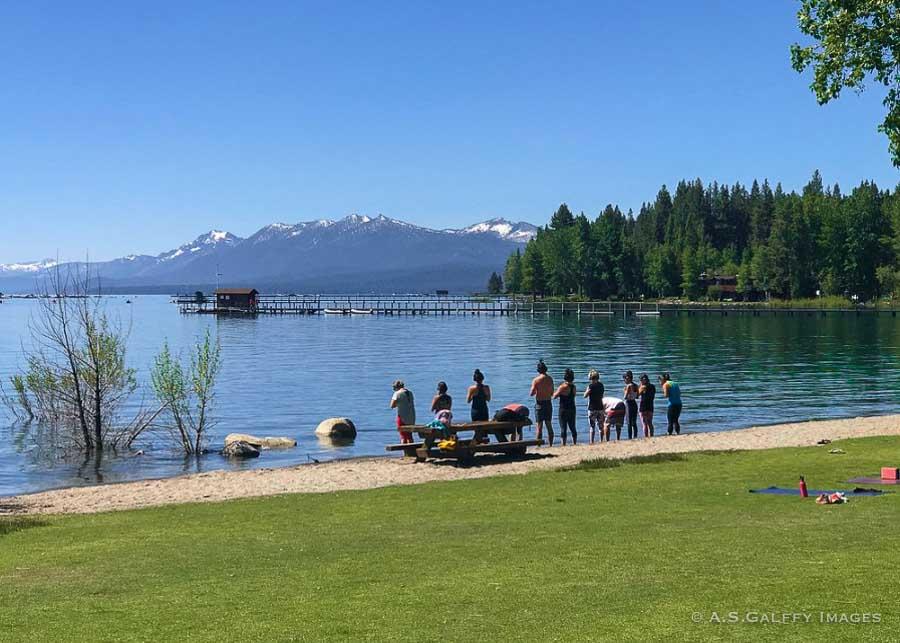 Commons beach in North Lake Tahoe