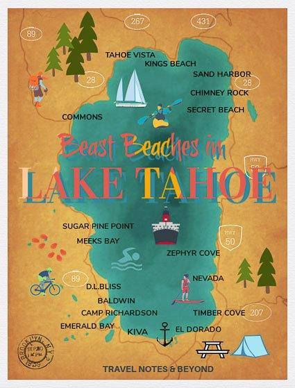 Lake Tahoe Beaches pin