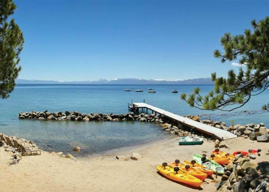 Tahoe Vista Beach in North Lake Tahoe