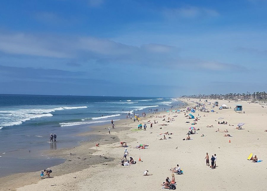 View of Huntington Beach in Orange County, California