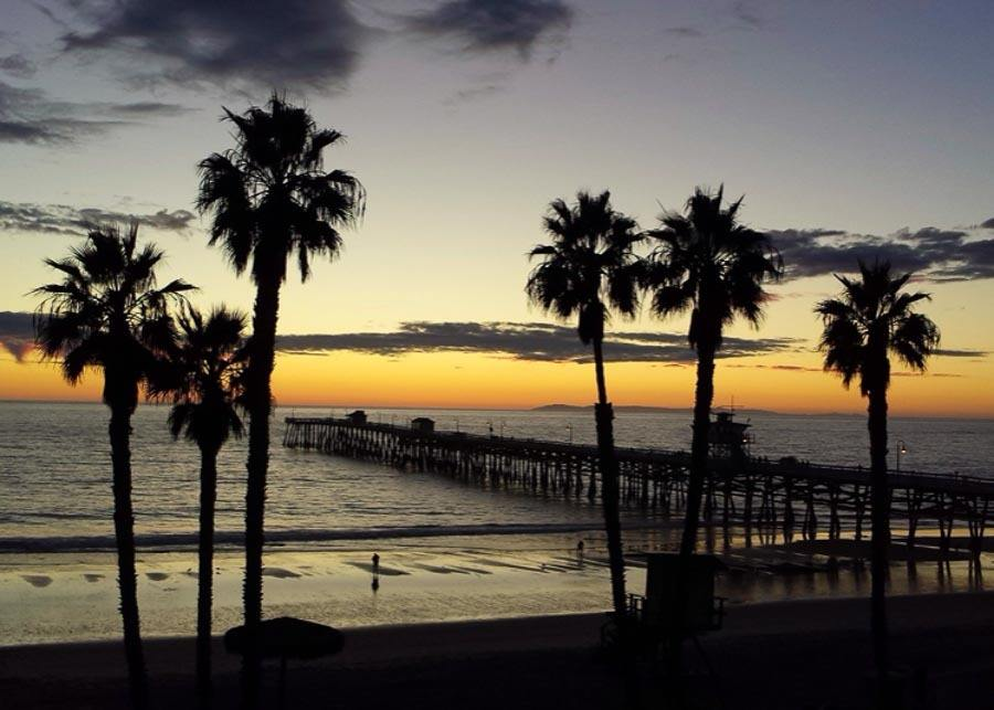 view of the pier in San Clemente