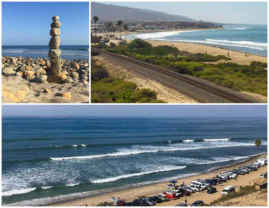 view of the San Onofre Surf Beach in Orange County