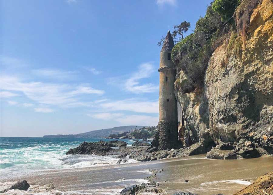 view of the Pirates Tower at Victoria Beach