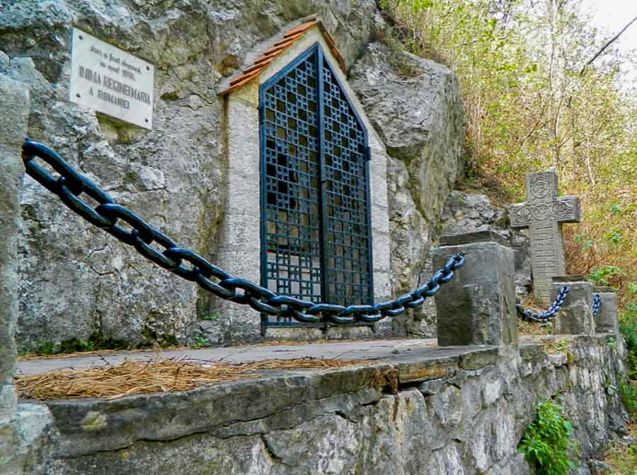 Resting place of Queen Maria's heart in Bran