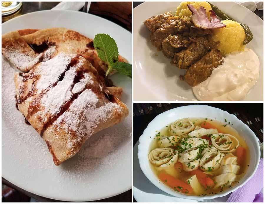Food at Caru' cu Bere Restaurant