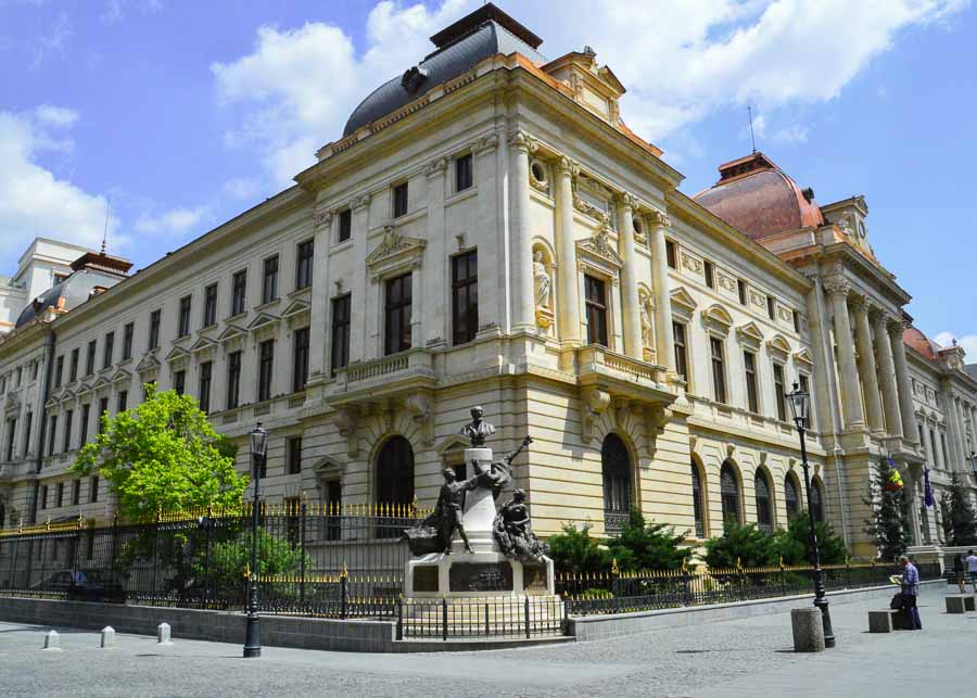 the building of the National Bank in Bucharest