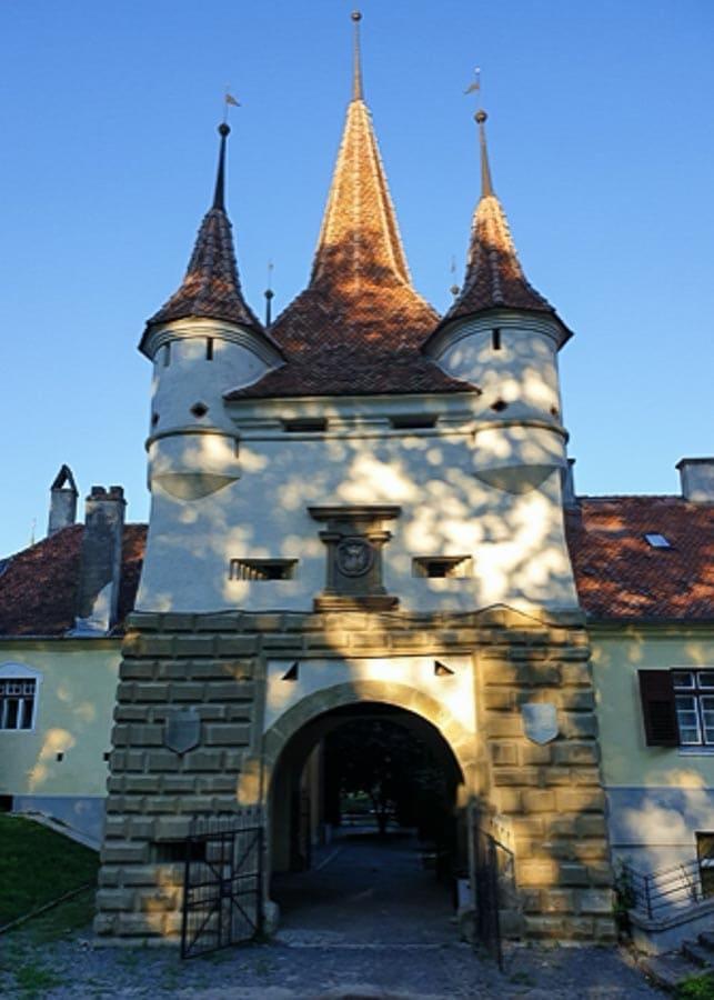 View of Ecaterina's Tower in Brasov, Romania