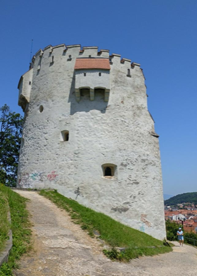 View of the White Tower in Brasov, Romania
