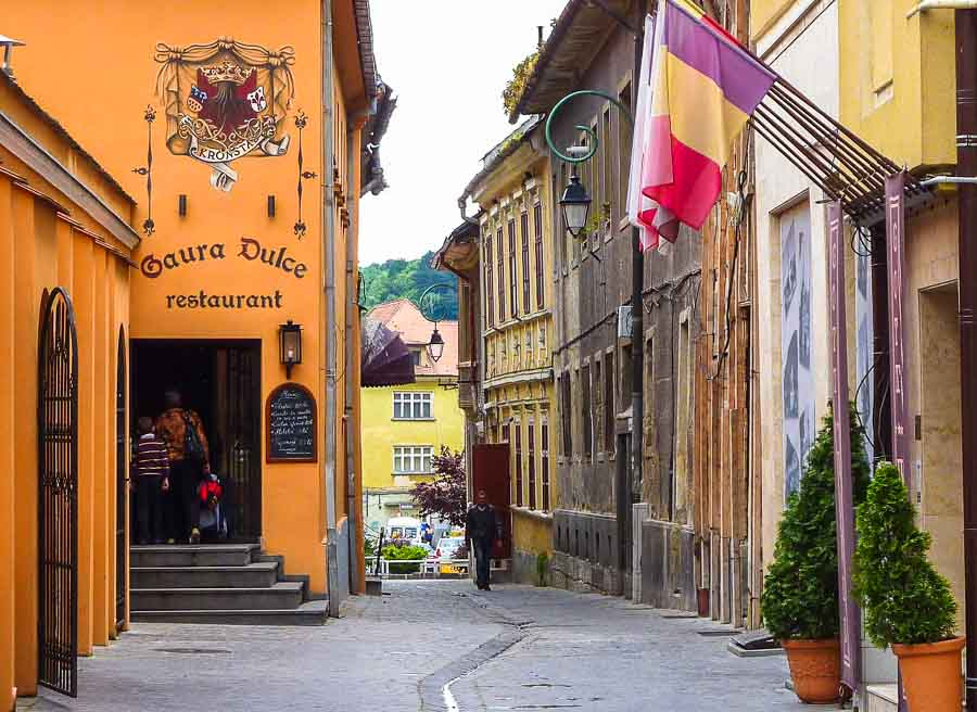 Wandering through the Old Town Brasov