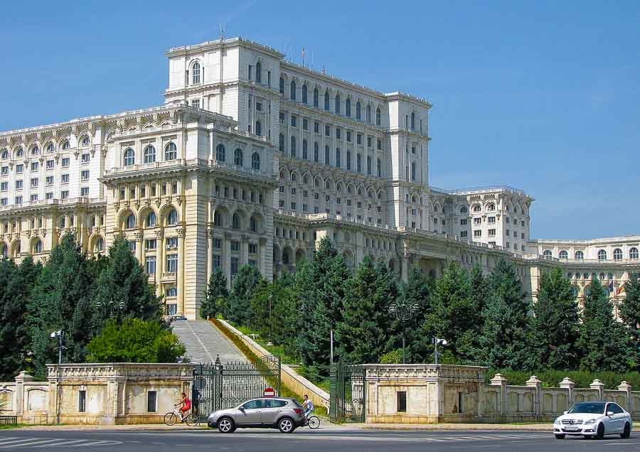 View of the Palace of the Parliament in Bucharest