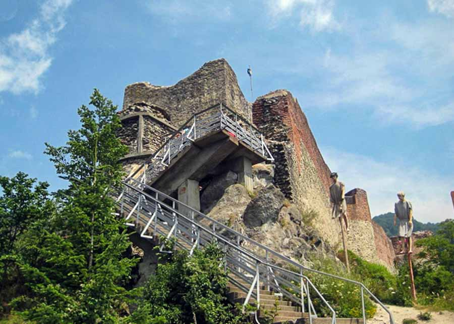 View of the Fortress of Poenari