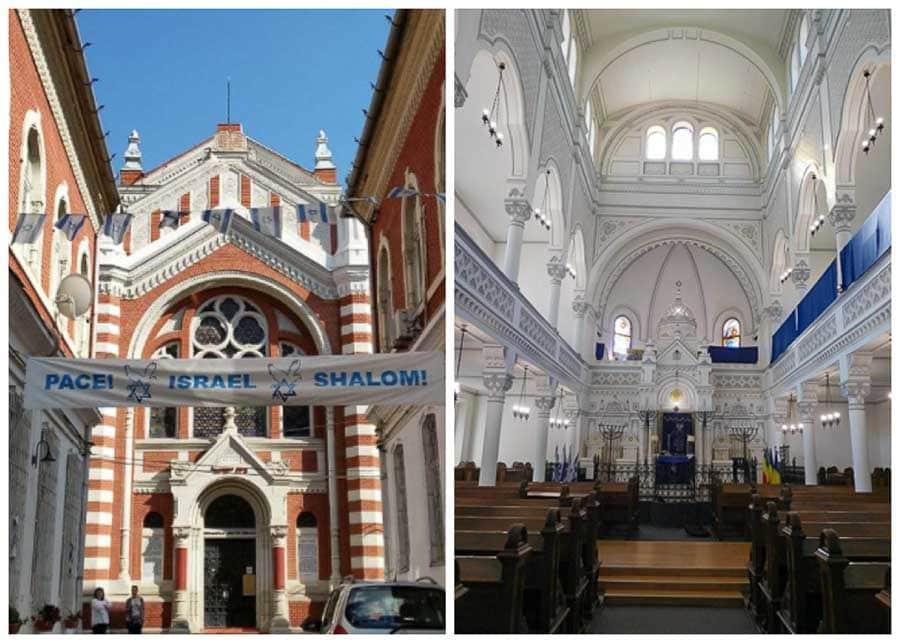 Interior and exterior vies of the Neolog Synagogue