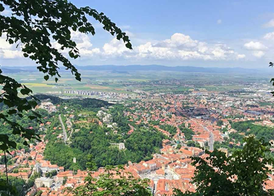 View of Brasov from Tâmpa Mountain