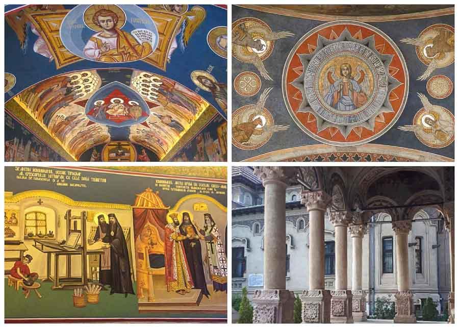 Frescos at Antim Church