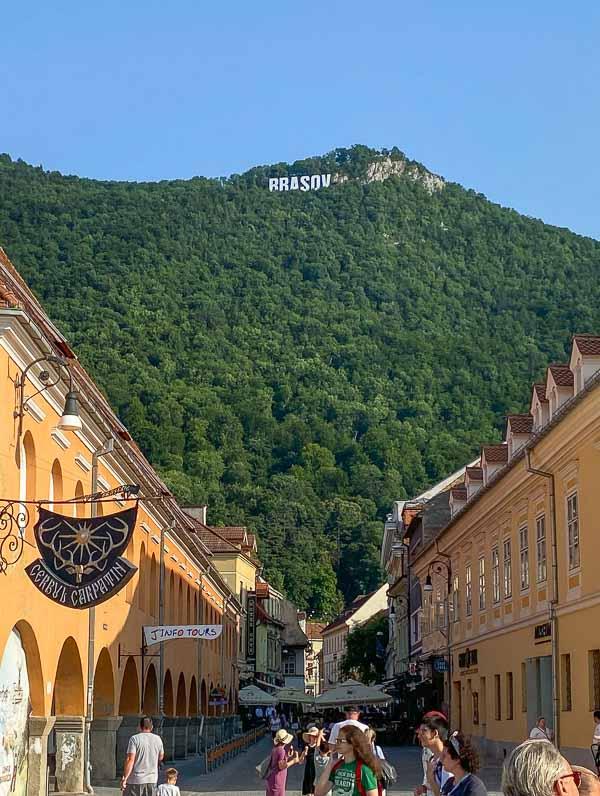 Brasov Sign on Mount Tâmpa