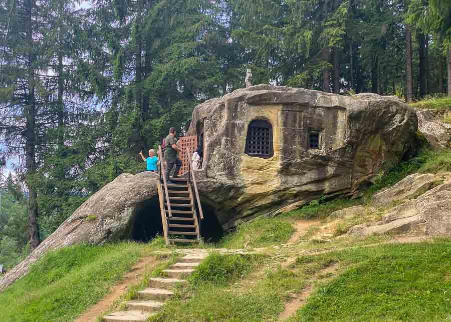Daniil the Hermit's Cave in Bucovina, Romania