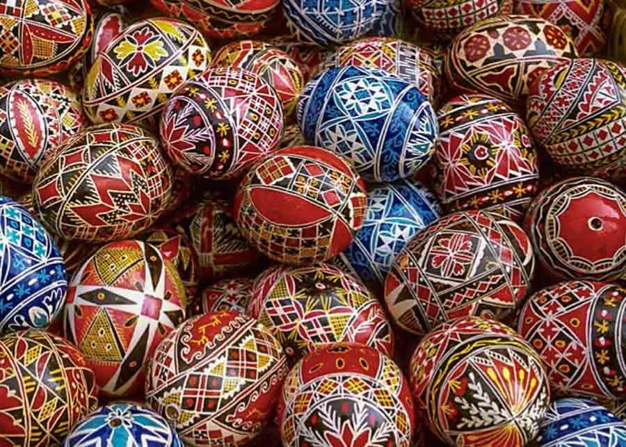 Romanian Easter eggs from Bucovina