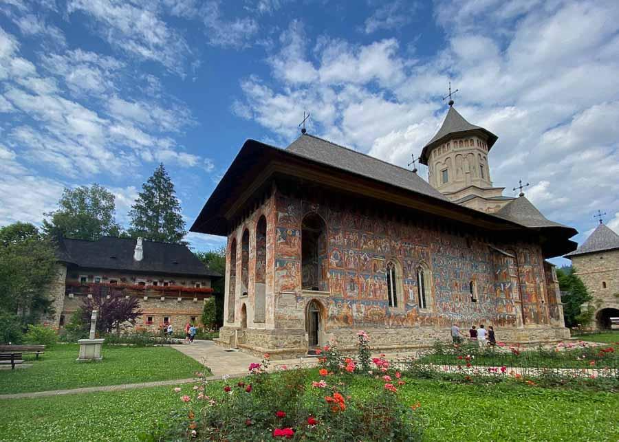 Moldovita painted church in Bucovina,  Romania