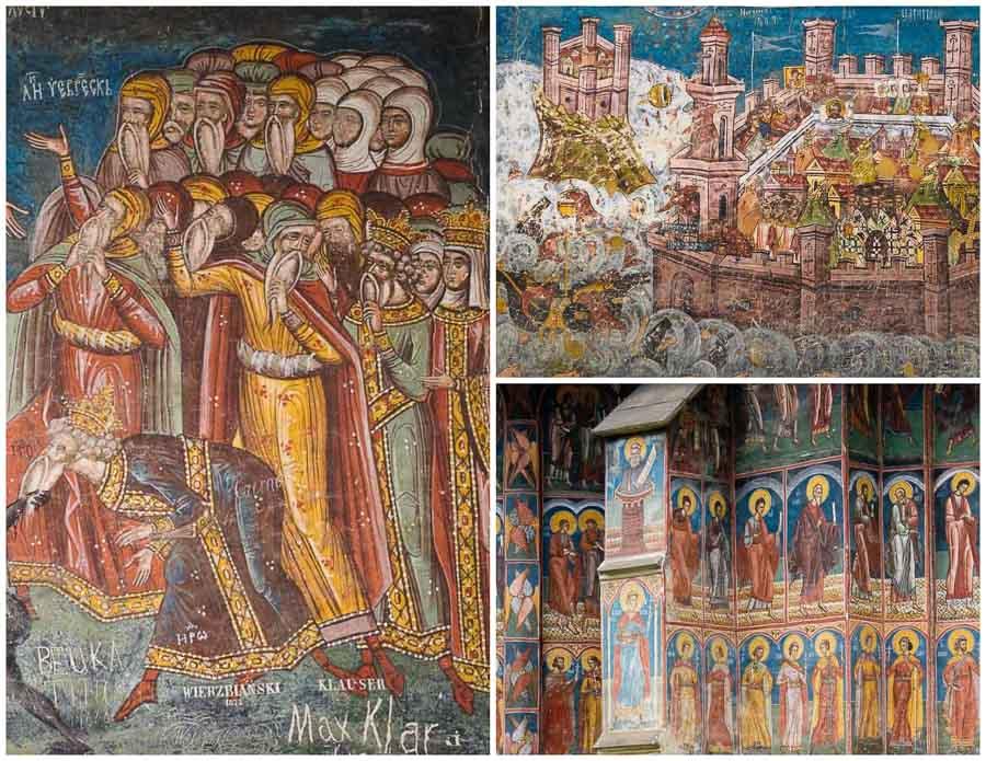 Frescos at Moldovita Monastery