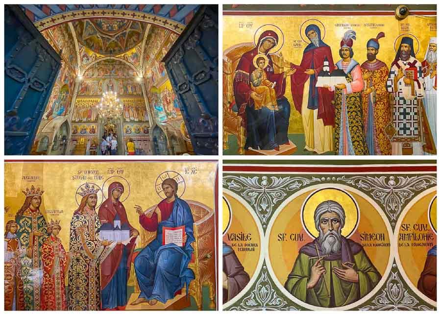 Interior frescos at Putna Monastery