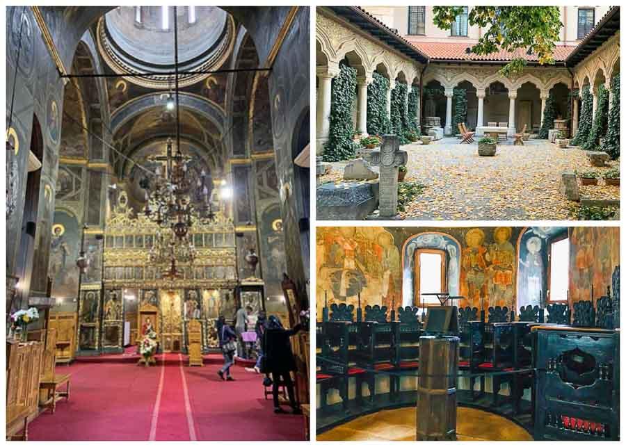 Stavropoleos church interior view