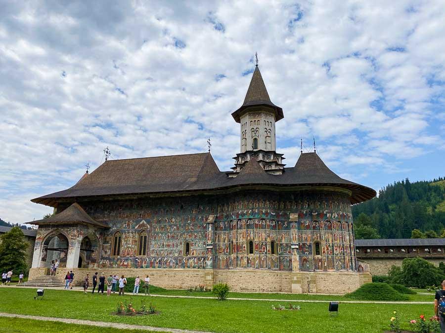 Exterior view of Sucevita Monastery