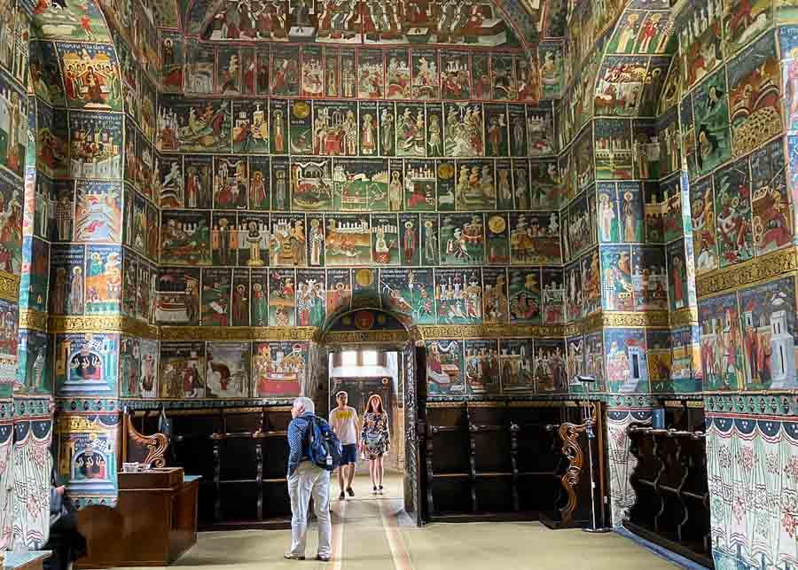 Interior of Sucevita Monastery