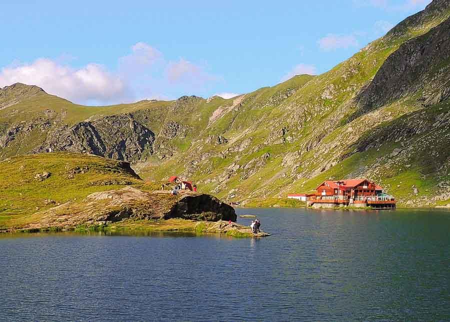 Bâlea Lake in the Fāgāras Mountains
