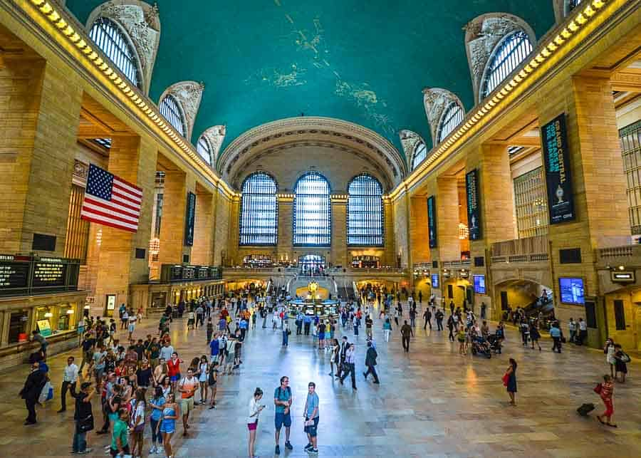 View of Grand Central Terminal in New York
