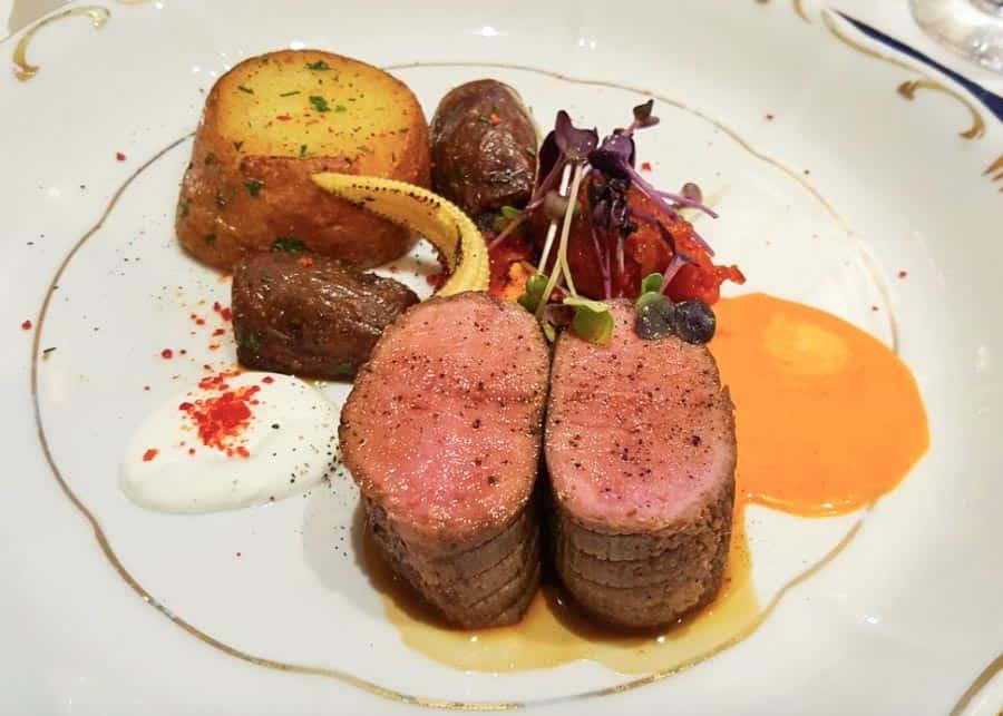 Food at Gundel Restaurant in Budapest