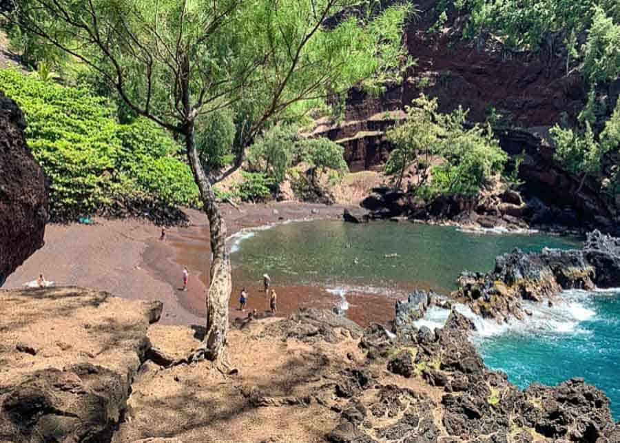 Red Sand Beach, a great stop on the Road to Hana