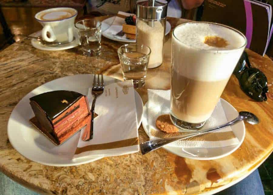 Hungarian desert at Café Gerbeaud