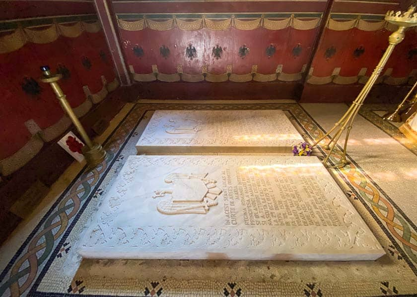 Royal tombs at Curtea de Arges Cathedral