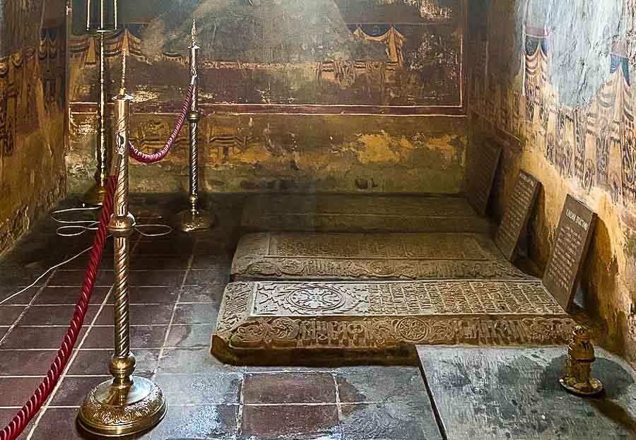 Royal tombs at St. Nicholas Church in Curtea de Arges
